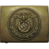 3rd Reich SA brass buckle. Vertical pointed swastika