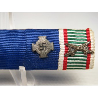 3rd Reich Feldspange, ribbon bar of 6 medals. Iron cross 2 1914. Espenlaub militaria