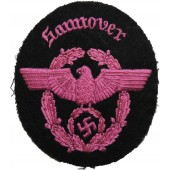 3rd Reich Fire police sleeve eagle for district Hannover