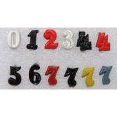 Colored ciphers for German WW2 shoulder boards.10 mm