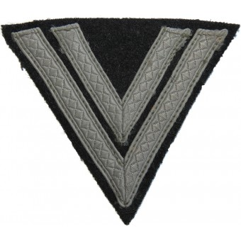 Waffen SS mid-war made rank chevron for SS-Rottenführer. Espenlaub militaria