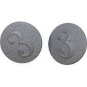 Wehrmacht, field buttons for tunic- 3rd company. Mint.