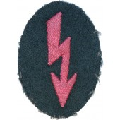 Wehrmacht Heeres trade insignia hand-embroidered signal-Blitz in pink