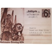 Propaganda post card - Nationaler Feiertag, 1934