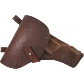 TT 33 pistol holster, unmarked, brown pebbled leather