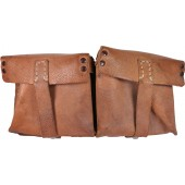 WW2 German semi-automatic rifle G-43 brown leather mag pouch ros 44