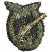 Anti-aircraft artillery of the Luftwaffe badge private purchased bullion embroidered variant. Rare.