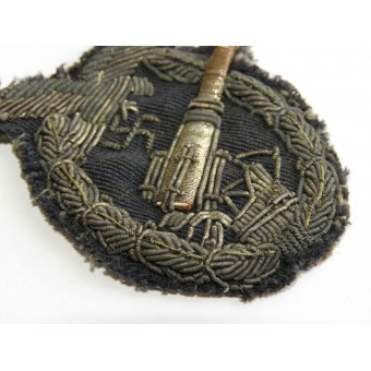 Anti-aircraft artillery of the Luftwaffe badge private purchased bullion embroidered variant. Rare.. Espenlaub militaria