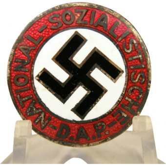 Extremely rare NSDAP member badge - transitional 18 - Gold und Silberschmiede. Espenlaub militaria