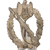 Infantry assault badge, silver grade. Zinc