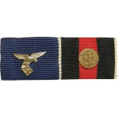 Luftwaffe ribbon bar. Service in the Luftwaffe and medal  for annection of Czech 1938