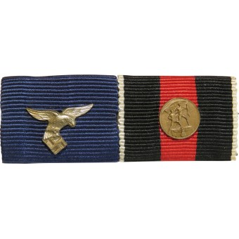 Luftwaffe ribbon bar. Service in the Luftwaffe and medal  for annection of Czech 1938. Espenlaub militaria