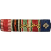 Ribbon bar. 5 Awards, Austria- Hungary, 3rd Reich.