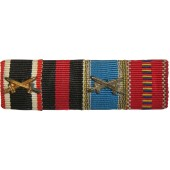 Third Reich ribbon bar for 4 medals