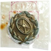 WW2 German driver's distinguishing badge, 3rd class with original package LDO. Mint.