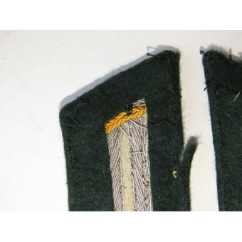 Yellow piped Wehrmacht armored reconnaissance /cavalry tunic removed collar tabs. Espenlaub militaria