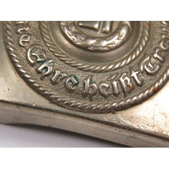 Early cupronickel buckle for SS-VT, SS-TV, A-SS. Espenlaub militaria