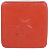 Container for tooth powder from the pre-war kit of a soldier of the Red Army