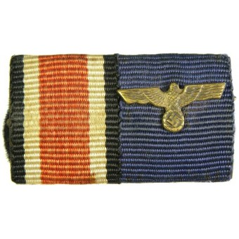 Iron cross and service medal in Wehrmacht ribbon bar. Espenlaub militaria