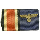 Iron cross and service medal in Wehrmacht ribbon bar