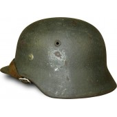 M 35 Heeres combat single decal helmet in field rough texture repaint.