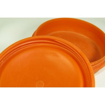 Original German WW2 bakelite Orange Butter Dish (Butterdose). Espenlaub militaria