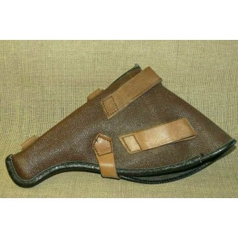 Post war brown artificial leather Nagant 1895 holster. Espenlaub militaria