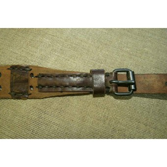 PPD, PPsch leather sling, redone from a Canadian made WW1 slings. Espenlaub militaria