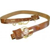 Russian PPD, PPSch high quality leather sling, ww2 stamped. Mint!