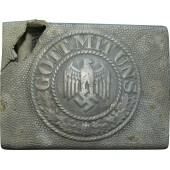 Wehrmacht Heer combat buckle, battle damaged!