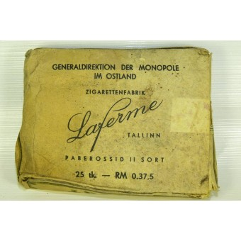 WW2 Cigarettes ORIENT with its original content used by Wehrmacht and SS. Espenlaub militaria