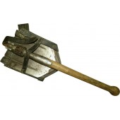 "WW2 entrenching tool with cover. Marked ""dag 1941"""