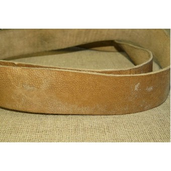 WW2 pattern Mosin-Nagant rifle shoulder leather sling in mint condition. Espenlaub militaria