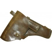 WW2 period made Soviet Russian leather holster for TT 33 pistol.