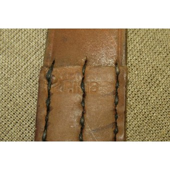 WW2 PPD, PPsch leather sling, remake from a Canadian made WW1 rifle slings.. Espenlaub militaria