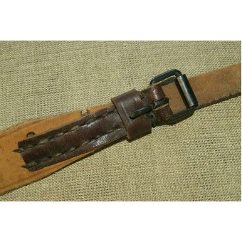 WW2 PPD, PPsch leather sling, remake from a Canadian made WW1 slings. Rare type!. Espenlaub militaria