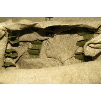 WW2 Soviet Russian bag for the machinegun rounds DP-27 round magazines.. Espenlaub militaria