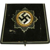 3rd Reich German cross in Gold with award case. 134 marked