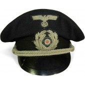 3rd Reich Kriegsmarine visor hat for an officer in administration