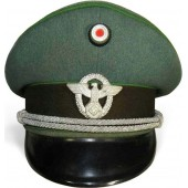 3rd Reich WW2 issued Ordnungspolizei officers visor hat