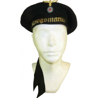 Kriegsmarine sailor's hat & white removable top cover. Espenlaub militaria