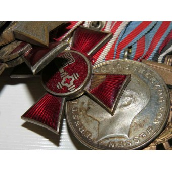 Medal bar with 12 medals for period from 1900 till 40s. Espenlaub militaria