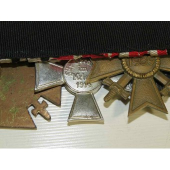 Medal bar with 9 medals, from pre-ww1 period till ww2. Espenlaub militaria