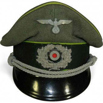 Wehrmacht Heer Panzergrenadier or motorized infantry officers visor hat. Espenlaub militaria