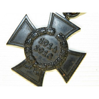 1914-18 Hindenburg cross in black- Widows cross. MD marked. Espenlaub militaria