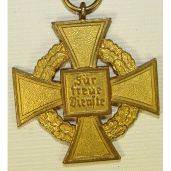 3rd Reich 40 years of Faithful Service decoration in Gold. Espenlaub militaria