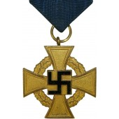 3rd Reich 40 years of Faithful Service decoration in Gold