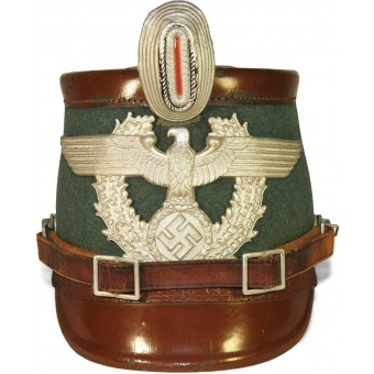 3rd Reich Polizei Gendarmerie Shako for enlisted men.. Espenlaub militaria