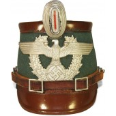 3rd Reich Polizei Gendarmerie Shako for enlisted men.