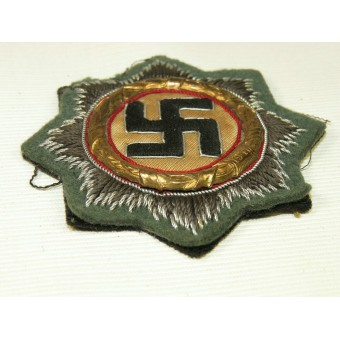 German cross in gold 1941. Cloth Feldgrau wool for Wehrmacht Heer. Espenlaub militaria